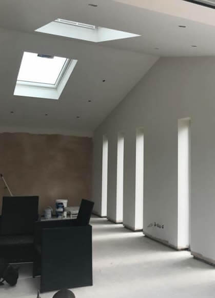 interior view of house after extension in bolton
